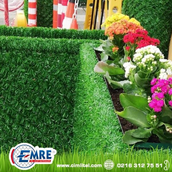 Grass Fence Flowerpots